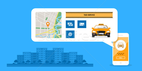 taxi service concept Stock photo © shai_halud