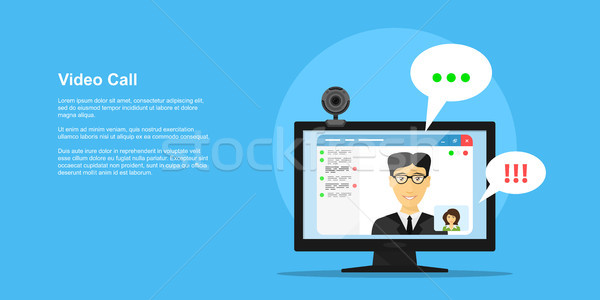 video call concept Stock photo © shai_halud