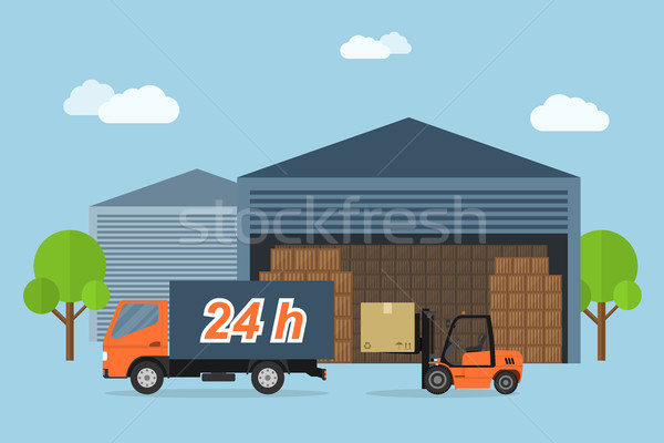 доставки службе фотография грузовик окна Сток-фото © shai_halud