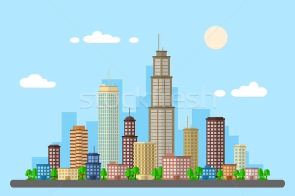 городского пейзаж фотография стиль веб баннер Сток-фото © shai_halud