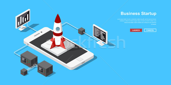 Isometric startup concept Stock photo © shai_halud