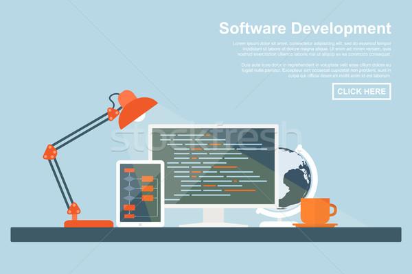Szoftver fejlesztés stílus programozás kódolás keresőoptimalizálás Stock fotó © shai_halud