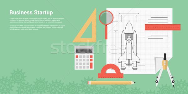 Stockfoto: Business · startup · stijl · banner · nieuwe · product
