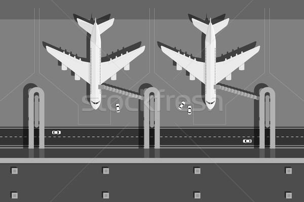 аэропорту фотография два самолеты Top мнение Сток-фото © shai_halud