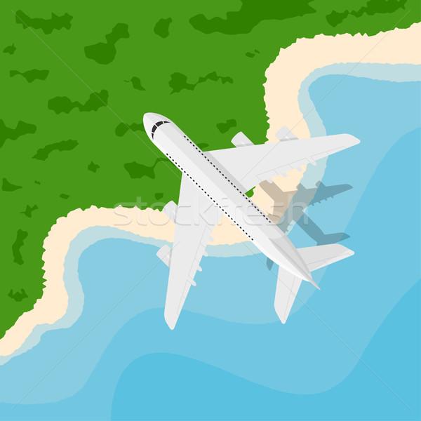 ストックフォト: 平面 · 画像 · 飛行 · スタイル