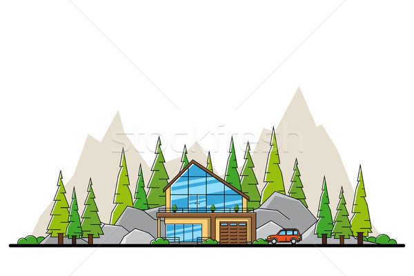 forest house concept Stock photo © shai_halud