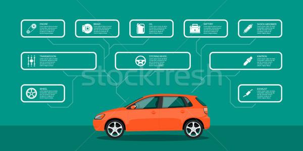 車 サービス 修復 インフォグラフィック テンプレート ストックフォト © shai_halud