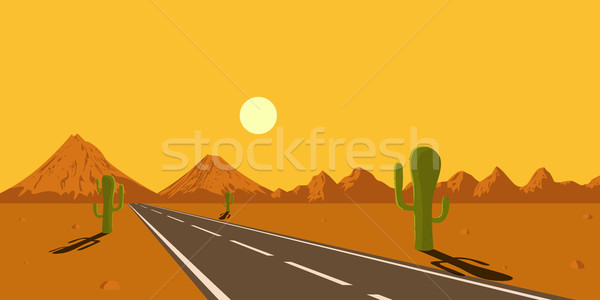 desert landscape Stock photo © shai_halud