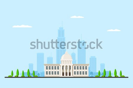 Picture of a city hall building Stock photo © shai_halud