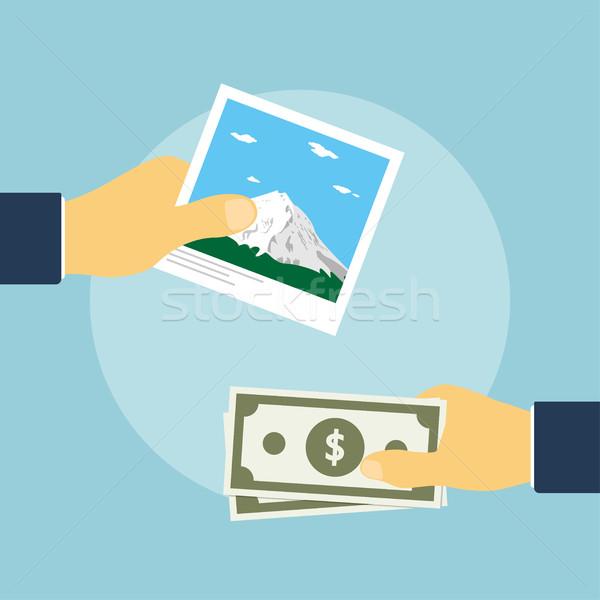 Elad fotó kép emberi kéz tart másik Stock fotó © shai_halud