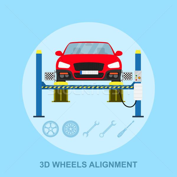 wheels alignment Stock photo © shai_halud