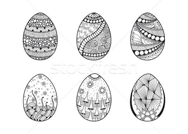 set of egg icons Stock photo © shai_halud