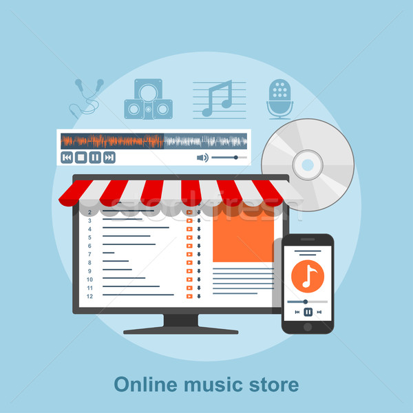çevrimiçi müzik depolamak stil hizmet web Stok fotoğraf © shai_halud