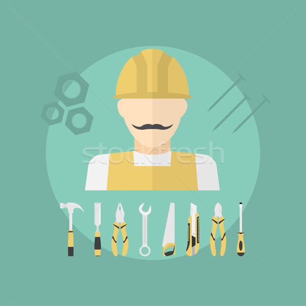 работник фотография рабочих человека набор Сток-фото © shai_halud