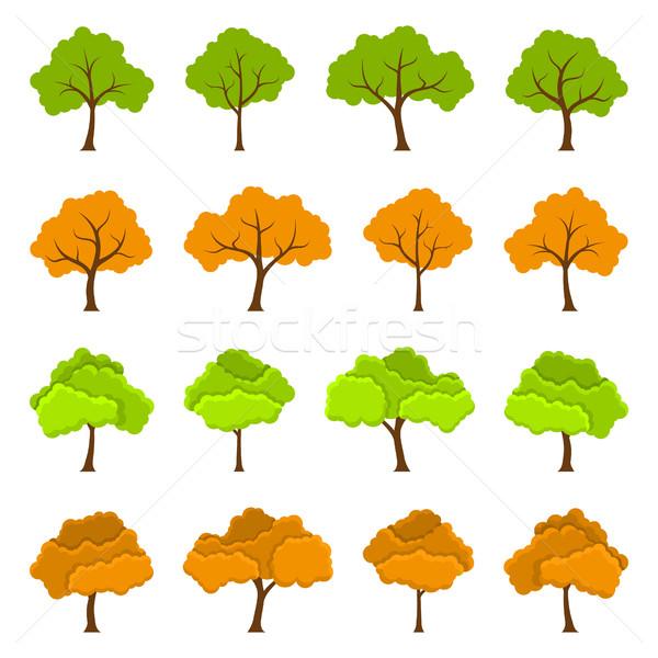 tree icons set Stock photo © shai_halud