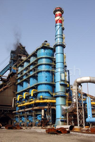 синий промышленных химического здании технологий Сток-фото © shamtor