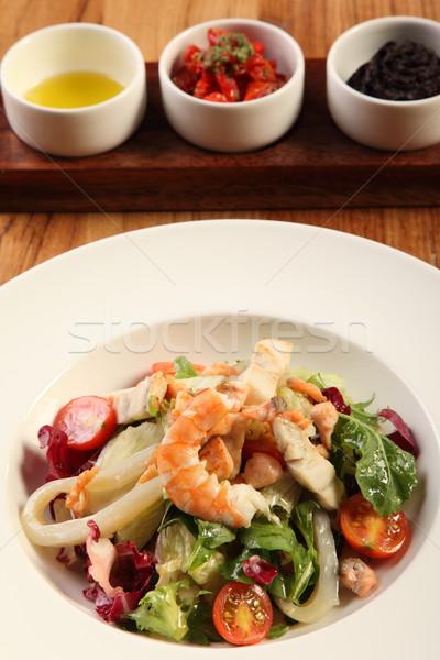 креветок Салат вкусный три различный ресторан Сток-фото © shamtor