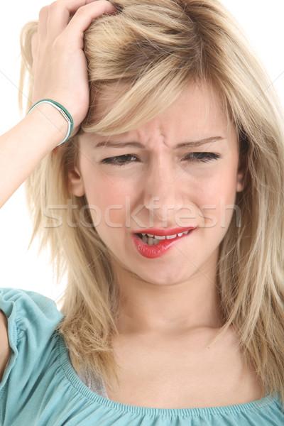 Angry girl Stock photo © shamtor