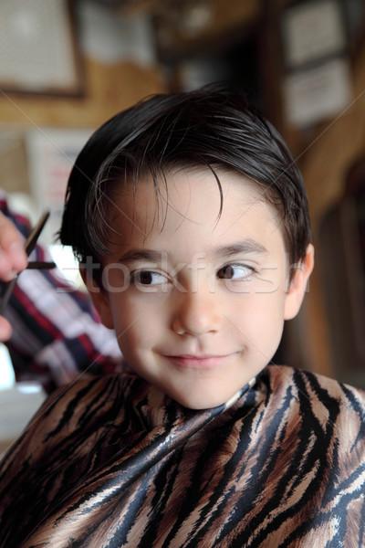 парикмахера магазин мужчины ребенка Cut Сток-фото © shamtor