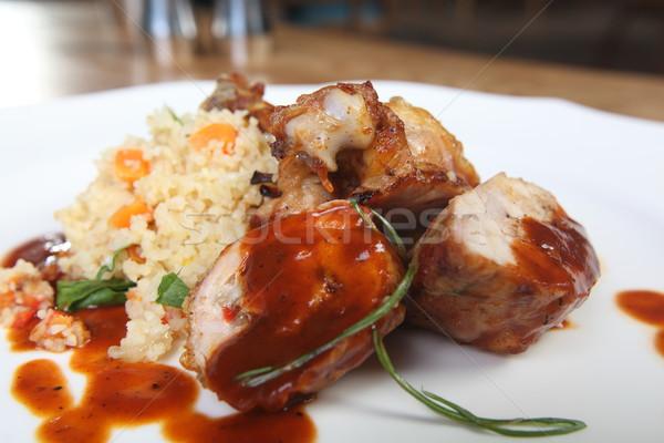 Chicken and rice Stock photo © shamtor