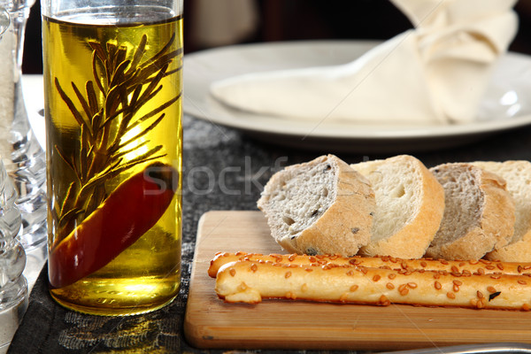 Bread and olive oil Stock photo © shamtor