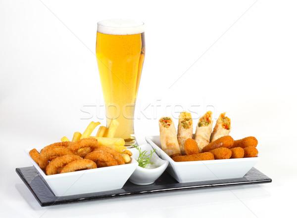 Сток-фото: пива · жареный · закуска · чипов · овощей