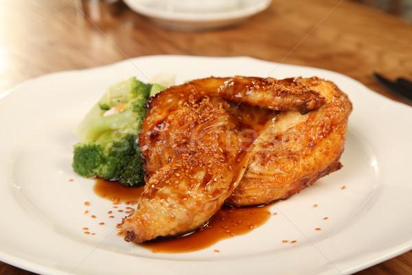 утки кунжут кунжут брокколи обеда Сток-фото © shamtor