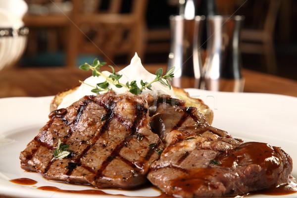 бифштекс картофеля роскошь Сток-фото © shamtor