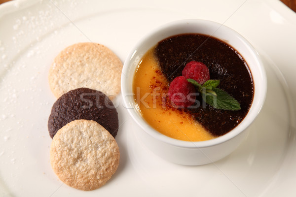 Dessert with biscuits Stock photo © shamtor