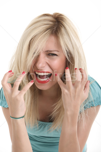 Angry Young Girl Stock photo © shamtor