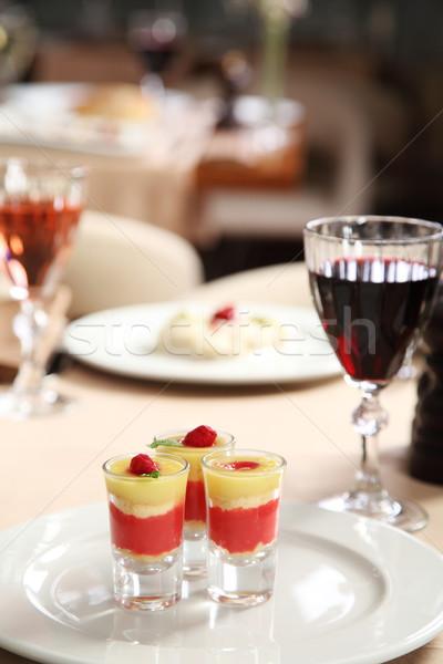 мороженым стекла очки ресторан таблице фрукты Сток-фото © shamtor