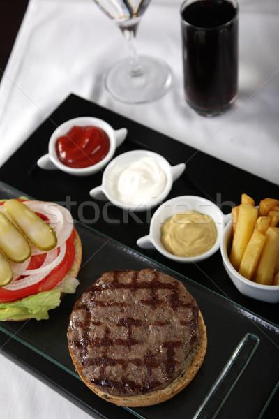Сток-фото: замечательный · службе · Burger · меню · Cola · продовольствие