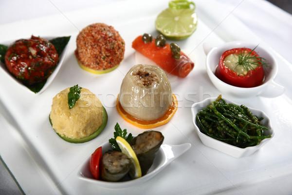 блюдо свежие продовольствие рыбы оранжевый Сток-фото © shamtor