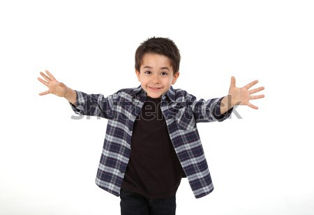 Happy child running with open arms Stock photo © shamtor