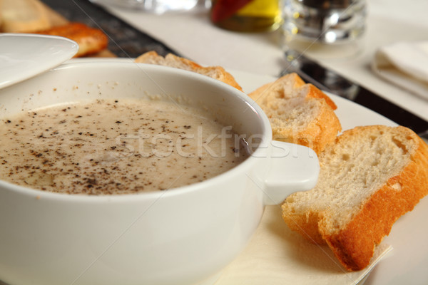 Mushroom porcini soup Stock photo © shamtor