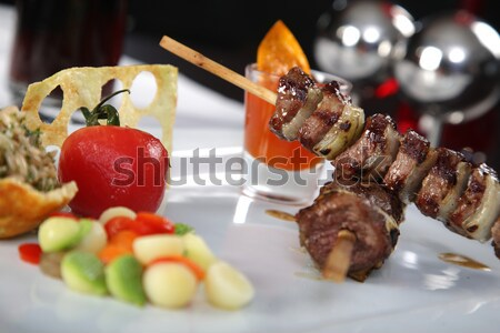 мяса блюдо томатный овощей кухне ресторан Сток-фото © shamtor