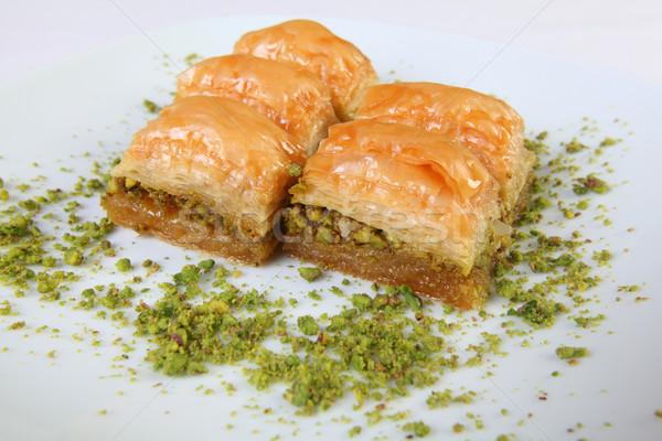 Baklava with pistachio Stock photo © shamtor