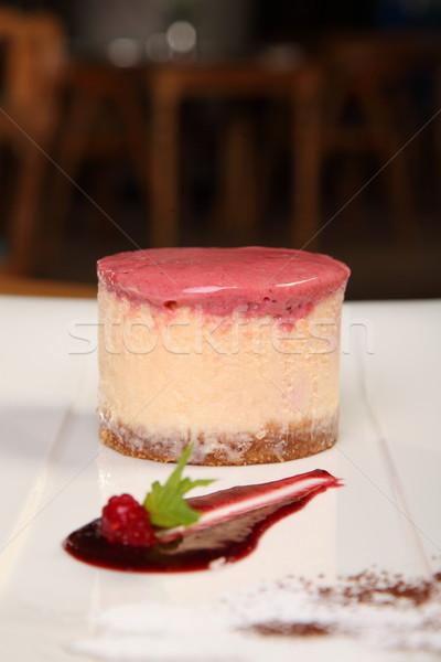 клубника кремом мороженым белый блюдо Сток-фото © shamtor