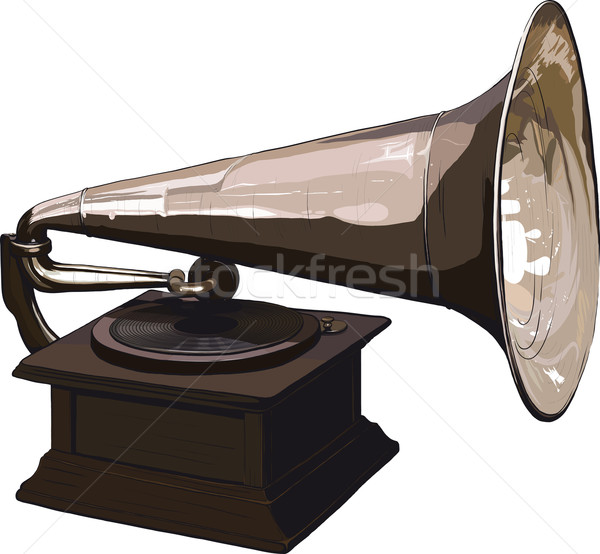 Old obsolete gramophone Stock photo © sharpner