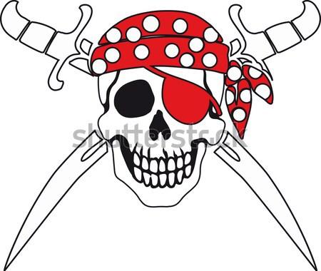 Pirate symbol Jolly Roger Stock photo © sharpner