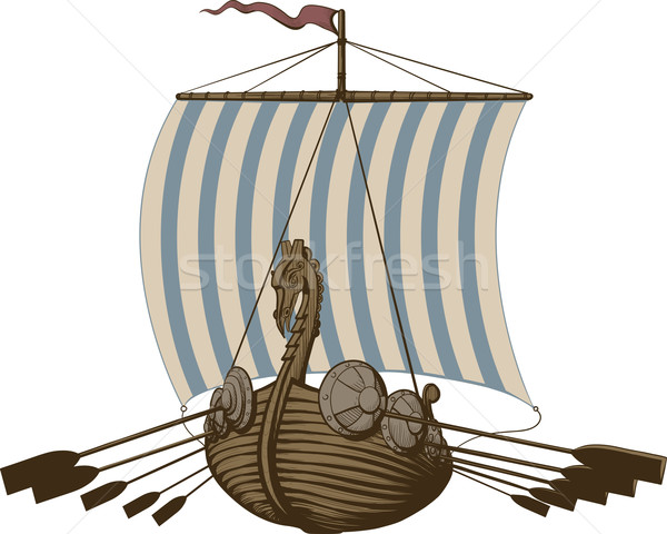 Battle Viking Ship Stock photo © sharpner