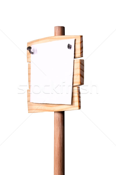Houten nagels witte papier lege plaats Stockfoto © sharpner