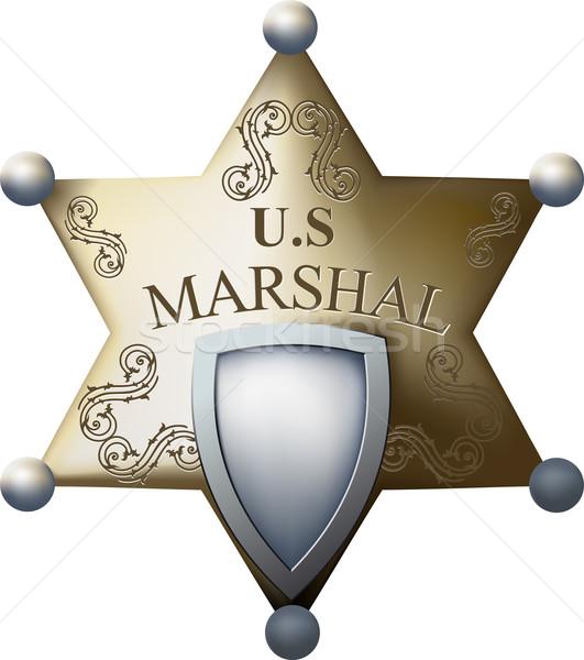 Marshal's badge  Stock photo © sharpner