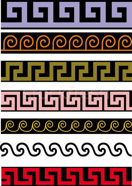 Verscheidene antieke weinig eenvoudige naadloos Stockfoto © sharpner