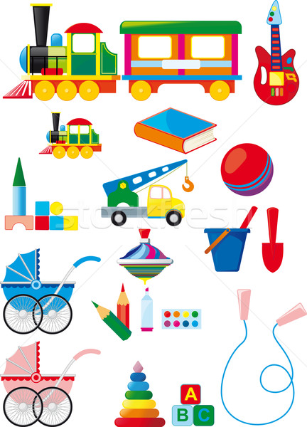 Stock photo: Set of children toys