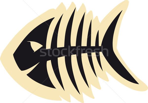 良い 魚 スケルトン スケッチ 黒 医療 ストックフォト © sharpner