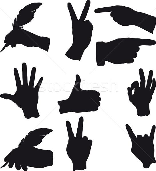 few hand gestures Stock photo © sharpner