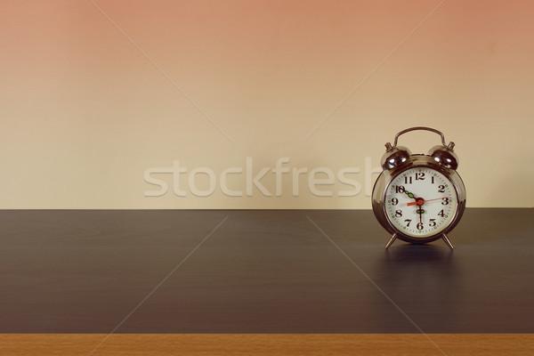目覚まし時計 フロント レトロな 場所 碑文 顔 ストックフォト © sharpner