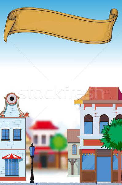 日 小さな町 観点 画像 午後 空っぽ ストックフォト © sharpner