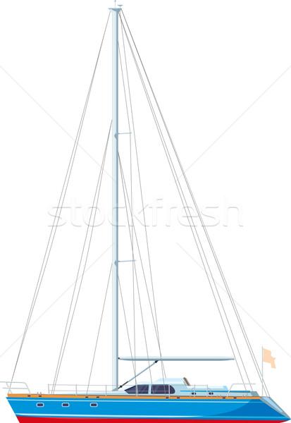 ヨット セーリング 帆 孤立した 白 スポーツ ストックフォト © sharpner